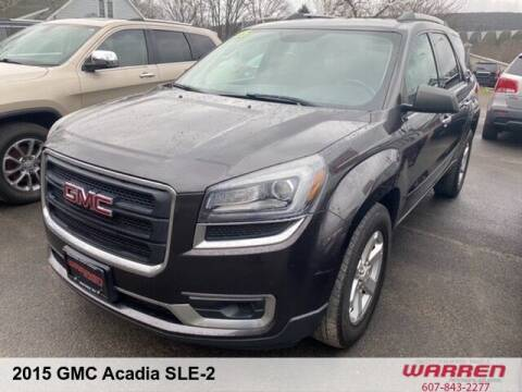 2015 GMC Acadia for sale at Warren Auto Sales in Oxford NY