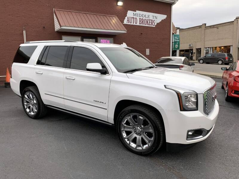 2016 GMC Yukon for sale at Middle Tennessee Auto Brokers LLC in Gallatin TN