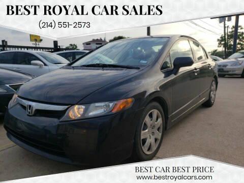 2008 Honda Civic for sale at Best Royal Car Sales in Dallas TX