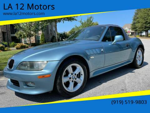 2002 BMW Z3 for sale at LA 12 Motors in Durham NC