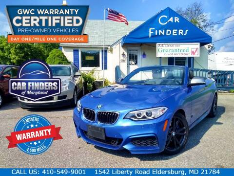 2017 BMW 2 Series for sale at CAR FINDERS OF MARYLAND LLC - Certified Cars in Eldersburg MD