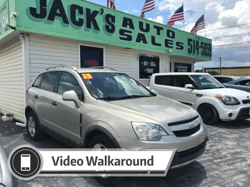 2013 Chevrolet Captiva Sport for sale at Jack's Auto Sales in Port Richey FL
