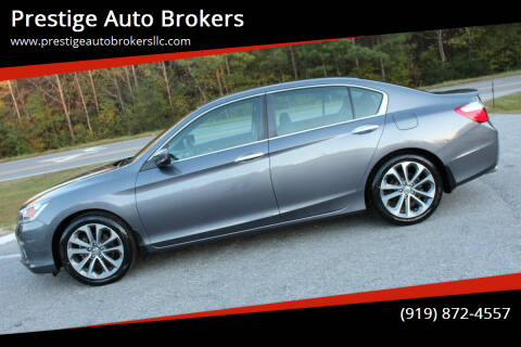 2014 Honda Accord for sale at Prestige Auto Brokers in Raleigh NC