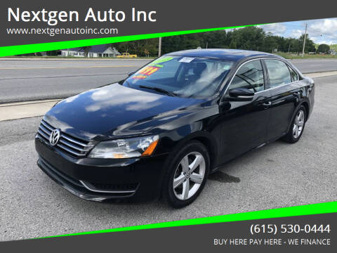 2013 Volkswagen Passat for sale at Nextgen Auto Inc in Smithville TN