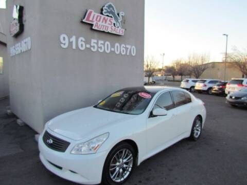2008 Infiniti G35 for sale at LIONS AUTO SALES in Sacramento CA