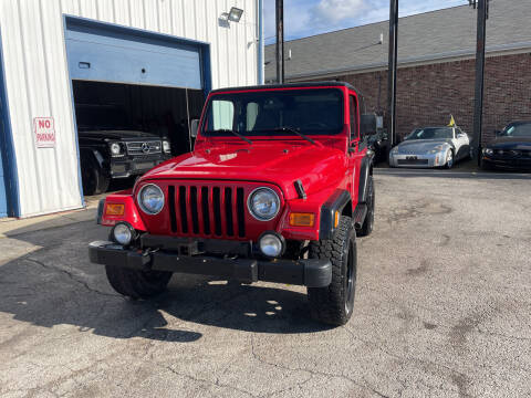 2002 Jeep Wrangler for sale at Pulse Autos Inc in Indianapolis IN