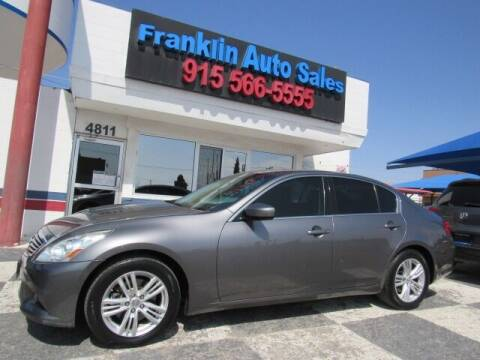 2012 Infiniti G37 Sedan for sale at Franklin Auto Sales in El Paso TX