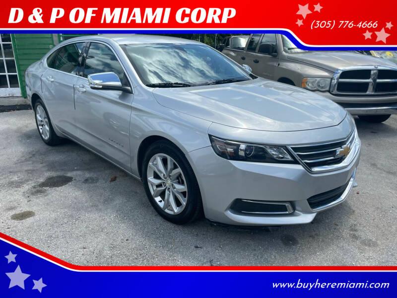 2016 Chevrolet Impala for sale at D & P OF MIAMI CORP in Miami FL