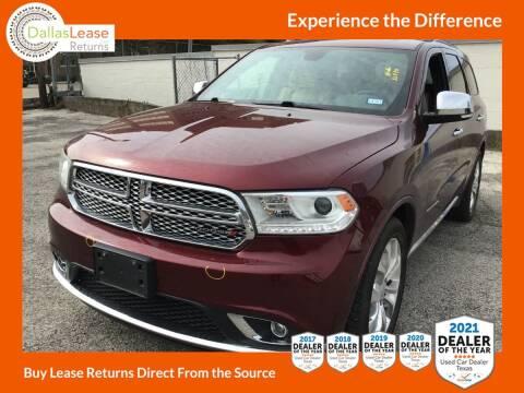 2017 Dodge Durango for sale at Dallas Auto Finance in Dallas TX