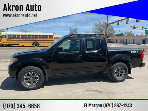 2014 Nissan Frontier for sale at Akron Auto - Fort Morgan in Fort Morgan CO