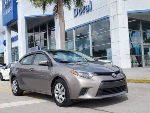 2016 Toyota Corolla for sale at DORAL HYUNDAI in Doral FL