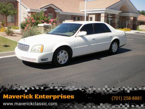 2002 Cadillac DeVille for sale at Maverick Enterprises in Pollock SD