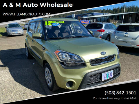 2012 Kia Soul for sale at A & M Auto Wholesale in Tillamook OR
