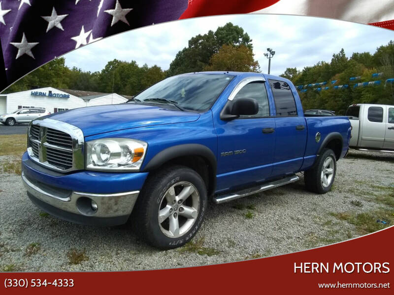 2007 Dodge Ram Pickup 1500 for sale at Hern Motors - 2021 BROOKFIELD RD Lot in Hubbard OH