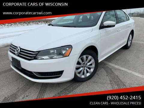 2013 Volkswagen Passat for sale at CORPORATE CARS OF WISCONSIN in Sheboygan WI