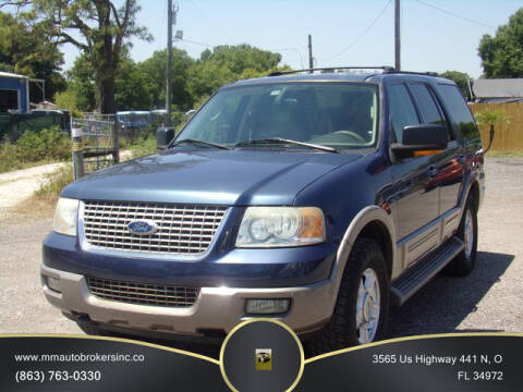 2003 Ford Expedition for sale at M & M AUTO BROKERS INC in Okeechobee FL