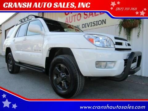 2005 Toyota 4Runner for sale at CRANSH AUTO SALES, INC in Arlington TX