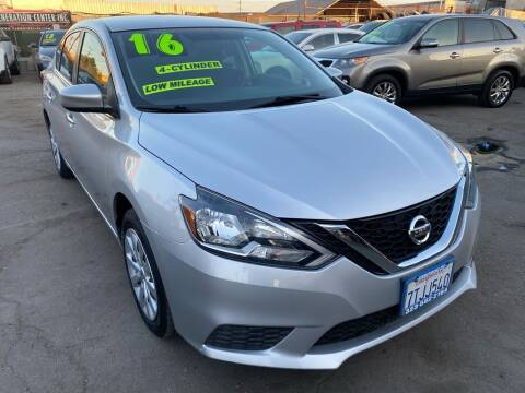 2016 Nissan Sentra for sale at CAR GENERATION CENTER, INC. in Los Angeles CA
