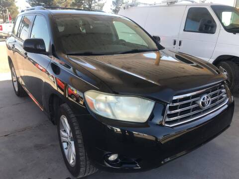 2008 Toyota Highlander for sale at Fiesta Motors Inc in Las Cruces NM