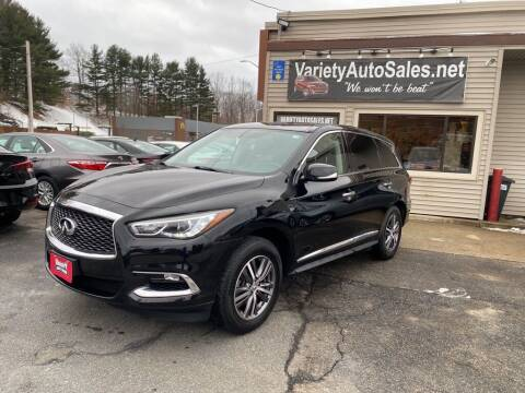 2018 Infiniti QX60 for sale at Variety Auto Sales in Worcester MA