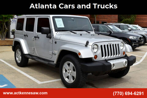 2011 Jeep Wrangler Unlimited for sale at Atlanta Cars and Trucks in Kennesaw GA
