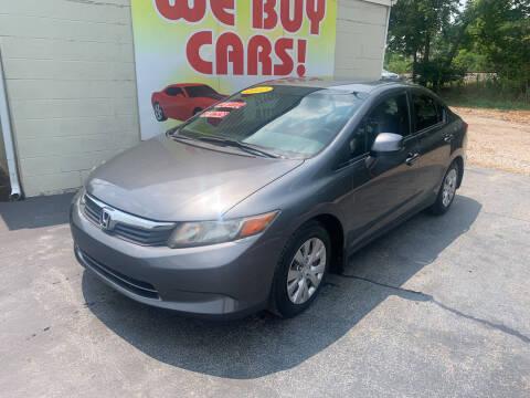 2012 Honda Civic for sale at Right Price Auto Sales in Murfreesboro TN