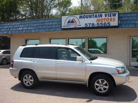 2006 Toyota Highlander for sale at Mountain View Motors Inc in Colorado Springs CO
