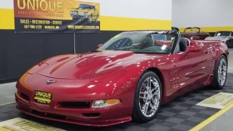 2004 Chevrolet Corvette for sale at UNIQUE SPECIALTY & CLASSICS in Mankato MN