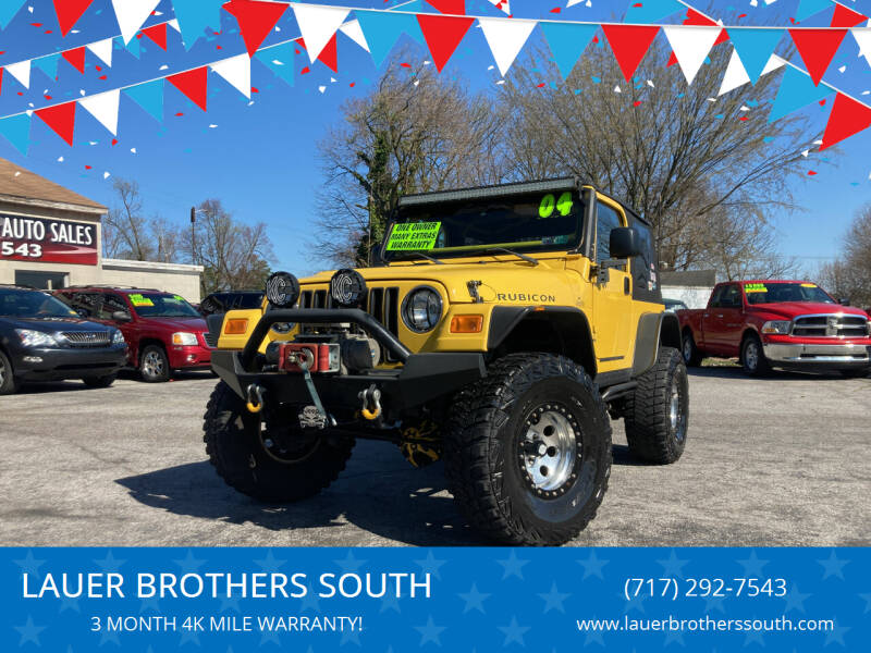 2004 Jeep Wrangler for sale at LAUER BROTHERS SOUTH in York PA