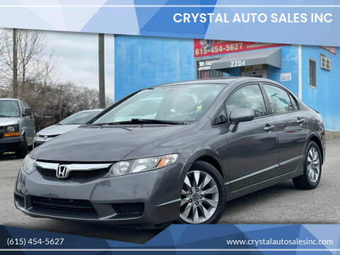 2009 Honda Civic for sale at Crystal Auto Sales Inc in Nashville TN