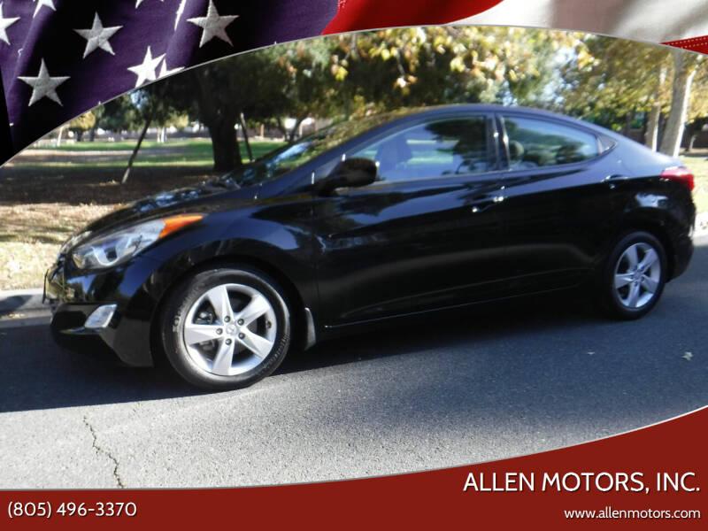 2013 Hyundai Elantra for sale at Allen Motors, Inc. in Thousand Oaks CA