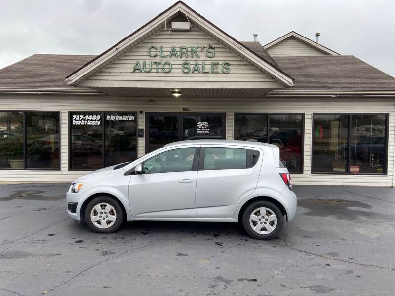 2015 Chevrolet Sonic for sale at Clarks Auto Sales in Middletown OH