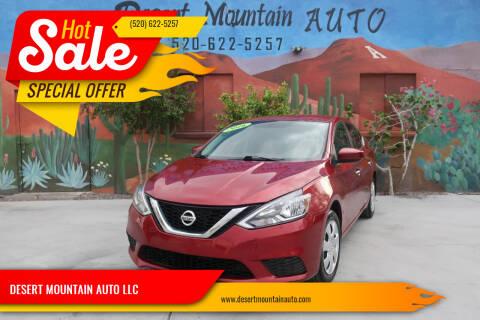 2016 Nissan Sentra for sale at DESERT MOUNTAIN AUTO LLC in Tucson AZ