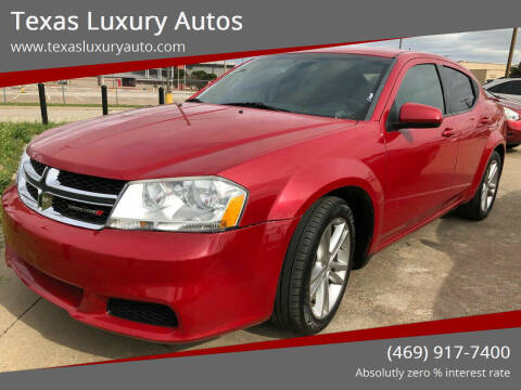 2012 Dodge Avenger for sale at Texas Luxury Auto in Cedar Hill TX