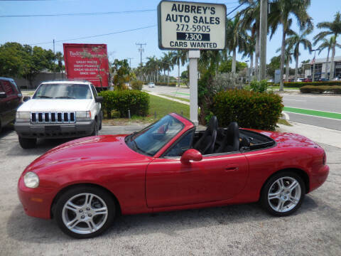 2005 Mazda MX-5 Miata for sale at Aubrey's Auto Sales in Delray Beach FL