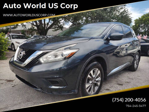 2015 Nissan Murano for sale at Auto World US Corp in Plantation FL