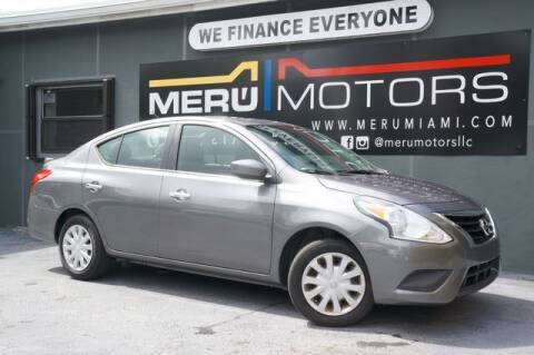 2016 Nissan Versa for sale at Meru Motors in Hollywood FL