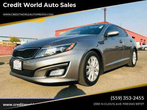 2015 Kia Optima for sale at Credit World Auto Sales in Fresno CA