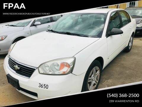 2007 Chevrolet Malibu for sale at FPAA in Fredericksburg VA