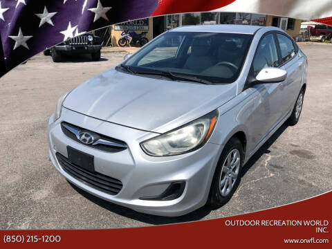 2012 Hyundai Accent for sale at Outdoor Recreation World Inc. in Panama City FL