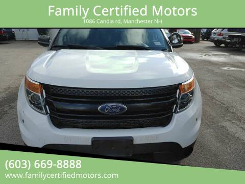 2013 Ford Explorer for sale at Family Certified Motors in Manchester NH