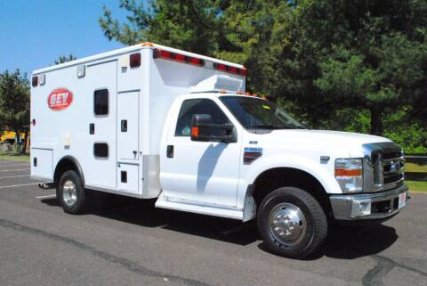 2008 Ford F350 4x4 Wheeled Coach Type I Ambulance for sale at Global Emergency Vehicles Inc in Levittown PA