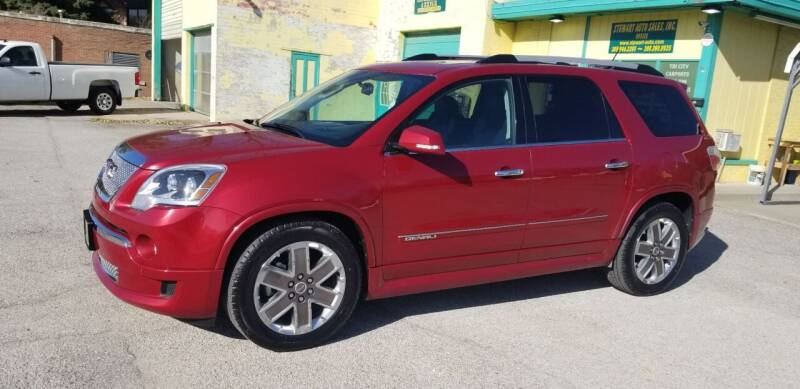 2012 GMC Acadia for sale at Stewart Auto Sales Inc in Central City NE