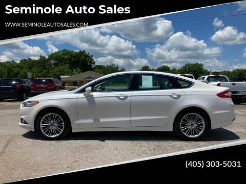 2014 Ford Fusion for sale at Seminole Auto Sales in Seminole OK