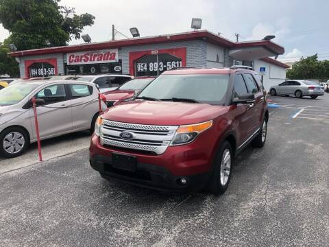 2014 Ford Explorer for sale at CARSTRADA in Hollywood FL