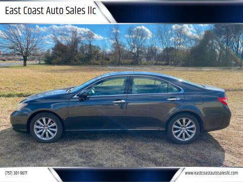 2009 Lexus ES 350 for sale at East Coast Auto Sales llc in Virginia Beach VA