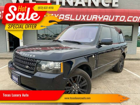 2012 Land Rover Range Rover for sale at Texas Luxury Auto in Cedar Hill TX