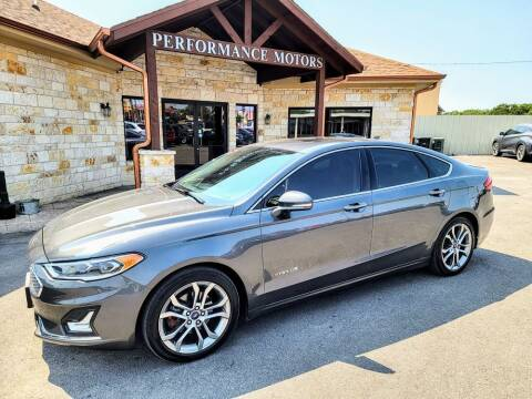 2019 Ford Fusion Hybrid for sale at Performance Motors Killeen Second Chance in Killeen TX