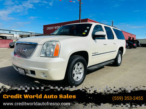 2012 GMC Yukon XL for sale at Credit World Auto Sales in Fresno CA
