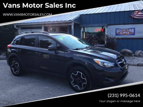 2015 Subaru XV Crosstrek for sale at Vans Motor Sales Inc in Traverse City MI